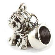 Sharpei Dog Sterling Silver Dangle Charm / Carrier Bead